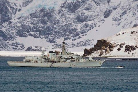 HMS Iron Duke in Antarctica