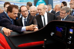 51eme salon international du Bourget. Visite officielle du president de la republique.