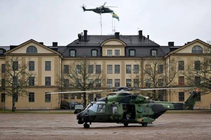 Swedish NH90 on exercise