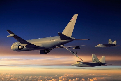 KC-46A sunset