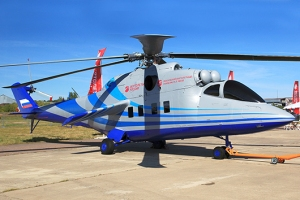 Russian Helicopters high-speed helicopter testbed based on a Mi-24K attack helicopter
