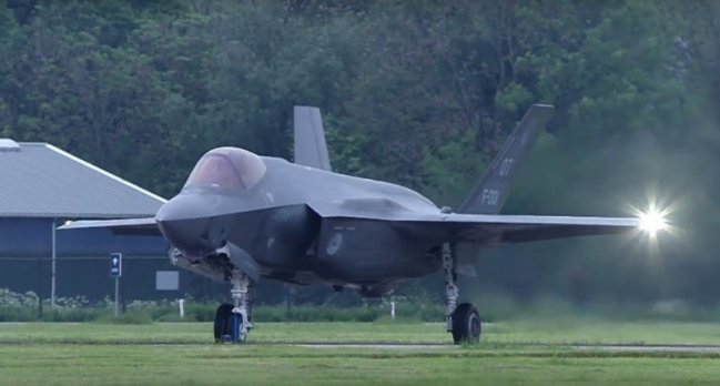 F 35 landing in NL
