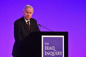Sir John Chilcot presents The Iraq Inquiry Report at the Queen Elizabeth II Centre in Westminster, London.