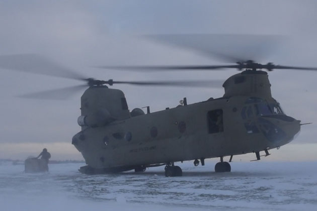 12th CAB Chinook conducts whiteout environmental training