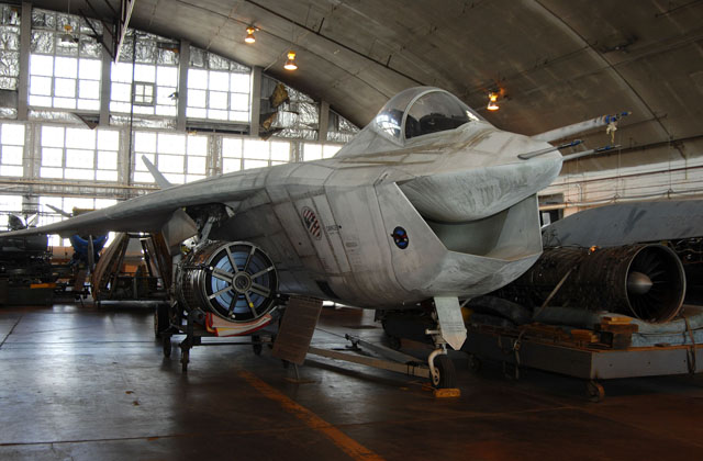 DAYTON, Ohio (02/2007) - The X-32A in the restoration hangar at the National Museum of the U.S. Air Force. (U.S. Air Force photo by Ben Strasser)