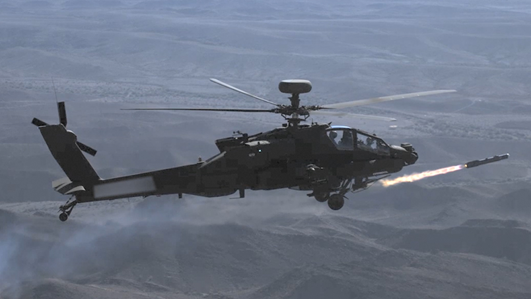 Apache launches MBDA Brimstone missile