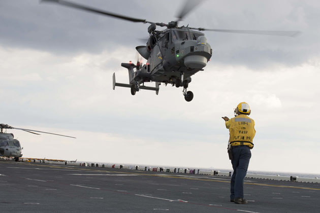 USS Wasp flight operations