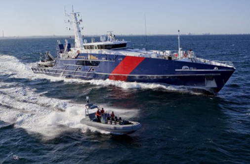 The Cape Class patrol boat for the Australian Border Force, built by Austal.
