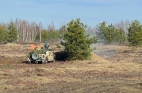 Humvee firing